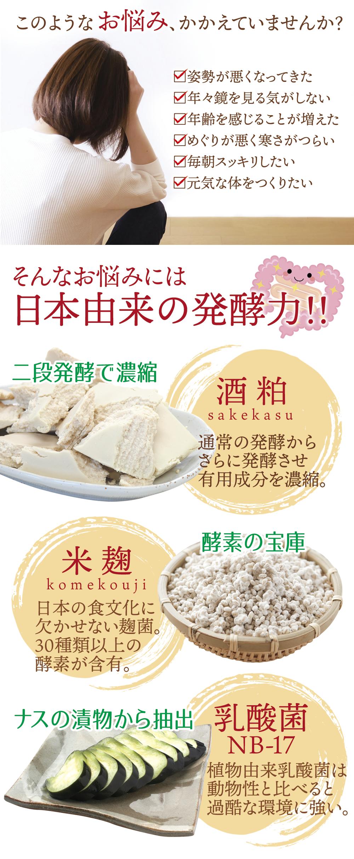 日本の発酵食品でカラダを強く元気に!!5つの成分が一度に摂れる!!